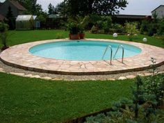 Small Backyard Landscaping, Backyard Patio, Backyard Designs, Outdoor Swimming Pool, Swimming Pools, Pool Fun, Round Above Ground Pool, Swimming Pool Designs, Cool Pools
