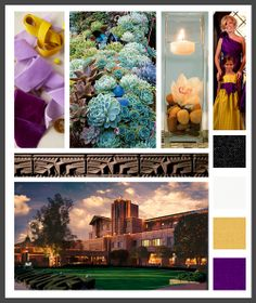 Lizzy B Loves visual + sparkle = inspiration : regal and opulent golds and purples for an art deco-inspired wedding (click on image to view in full)  #wedding_inspiration #wedding_color_palette #color_palette_inspiration