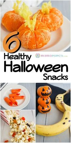 6 Healthy Halloween Treats You Can Make In Minutes - Snacks For Children İdeas Halloween Popcorn, Halloween Snacks, Homemade Halloween, Family Halloween, Halloween Fun, Halloween Decorations, Healthy Halloween Treats, Healthy Treats, Healthy Food