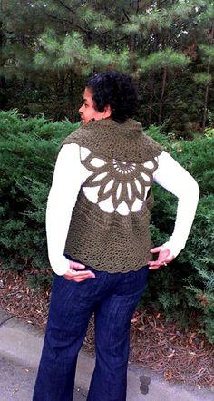Ravelry: Crochet Vest Pattern-Sunflower Circular Vest-Plus Size Clothing-PDF Pattern pattern by Gu'Chet BEAUTIFUL!!!