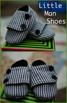 Handmade Little Man Shoes - 55+ DIY Baby Shoes with Free Patterns and Tutorials