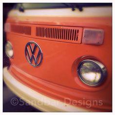 Papaya VW bus on Etsy, $8.00