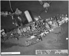 USS Oklahoma after salvaging.