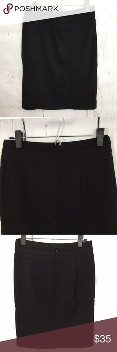 cAbi Pencil Skirt Black Tiered Waist • Perfect for work, career, professional women  • cAbi Pencil Skirt Black Tiered Waist  • Style 505  • Measurements: Size 2 - waist 27, hips 34, length 21  • Rayon, Nylon, Spandex  • Nonsmoking home CAbi Skirts Pencil