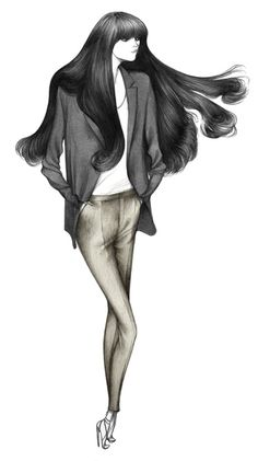 Fashion illustration - chic tailoring, stylish fashion drawing for Zara // Laura Laine