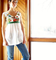Ms. Eliza Bennet Shirt tutorial from Shelby at the Meanie Greene blog!