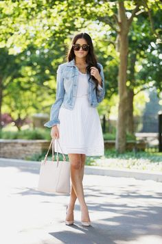 LOVIKA | 40 Stylish denim jacket outfit ideas to wear this Spring for work