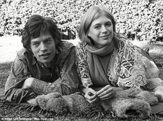 Mick Jagger with Marianne Faithfull in 1969 - she claims the Establishment tried to cover ...