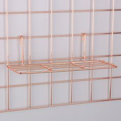 Rose Gold Straight Shelf Rack for Gridwall Grid Panel Wall Mountable Wire Organizer Storage Flower Pot Display Decor x