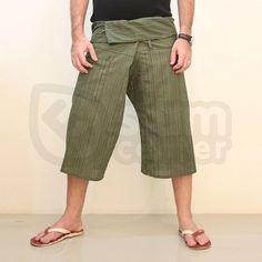 solid cor de azeitona verde com listras algodão tailandês calças yoga shorts-Calças curtas e calças-ID do produto:134167554-portuguese.aliba...