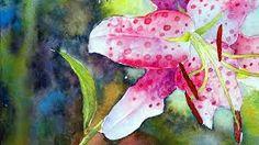 Znalezione obrazy dla zapytania lily flowers aquarelle painting