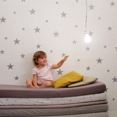 Large silver mate stars wall stickers    Brighten up any room with our lovely stars wall stickers.    Simply just peel from the sheet and stick on any