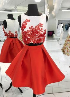 Prom Dresses Red, Short Homecoming Dress, Prom Dresses Two Piece, Ivory Prom Dresses Short Homecoming Dresses Unique Homecoming Dresses, Ivory Prom Dresses, Cheap Short Prom Dresses, Two Piece Homecoming Dress, Prom Dresses Two Piece, Dance Dresses, Sexy Dresses, Graduation Dresses, Evening Dresses