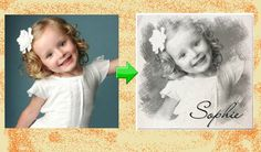 Convert a Photo to a Pencil Sketch by CustomPartyInvites on Etsy, $8.99