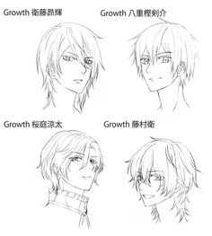 Drawing Hair Tutorial, Manga Drawing Tutorials, Manga Tutorial, Drawing Techniques, Facial Expressions Drawing, Anime Faces Expressions, Manga Hair, Anime Boy Hair, Neko Girl