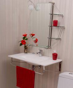 Seu banheiro é pequeno? Para deixar ele ainda mais bonito e organizado opte por gabinete suspenso.