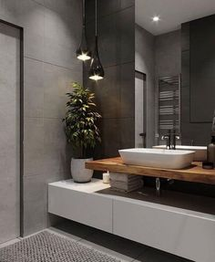 ♻️ Дизайн стиле ЛОФТ / Design Loft ▫️ Design Bedroom by Bathroom Design Luxury, Bathroom Layout, Simple Bathroom, Modern Bathroom Design, Home Interior Design, Design Bedroom, Serene Bathroom, Loft Bathroom, Bathroom Mirrors