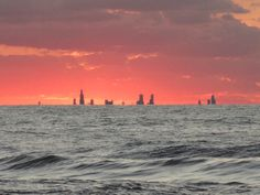 Chicago skyline from Northwest Indiana across Lake Michigan
