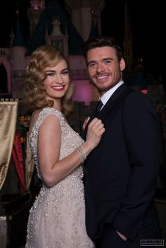 Cinderella (Lily James) with her Prince Charming (Richard Madden)
