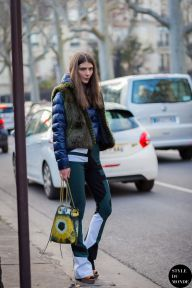 Paris Fashion Week FW 2015 Street Style: Ursina Gysi
