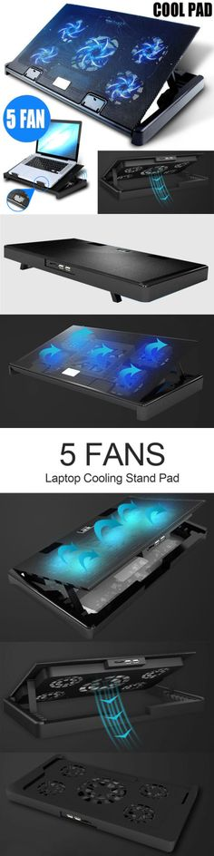 Laptop Cooling Pads 96915: Laptop Cooling Pad 11-17 Inch Gaming Laptop Usb Fan Cooler With 5 Fans Dual Usb -> BUY IT NOW ONLY: $19.79 on #eBay #laptop #cooling #gaming #cooler Laptop Cooling Stand, Laptop Cooler, 17 Inch Laptop, Notebook Laptop, Gaming, Fans, Usb, Cool Stuff, Ebay