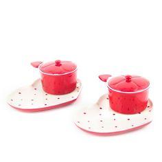 temp-tations® by Tara: temp-tations® Polka Dot Heart Shaped Soup and Sandwich Set