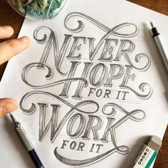 Hand lettering inspiration on a daily basis! Calligraphy and hand lettering for beginners we provide inspirational and educational content on the art of typography! Visit our website to find out more :) Brush Lettering Quotes, Lettering Styles, Typography Quotes, Typography Inspiration, Typography Letters, Typography Poster, Lettering Design, Lettering Ideas, Calligraphy Quotes Doodles