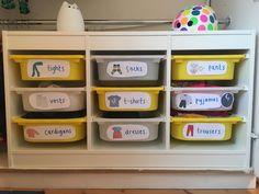 toddler closet Montessori style