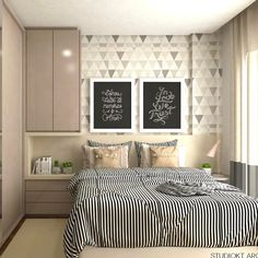 Modern Style Bedroom Design Ideas and Pictures. You're a fan of the modern designs and want to redecorate your bedroom to welcome New Year, let's see modern bedroom ideas. Dream Bedroom, Home Decor Bedroom, Bedroom Furniture, Master Bedroom, Furniture Plans, Kids Furniture, Modern Bedroom, Bedroom Ideas, Small Spaces