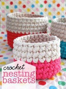 little crochet baskets