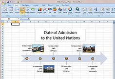 Create a timeline using Microsoft Office Excel 2007 Genealogy Forms, Genealogy Chart, Family Genealogy, Computer Lab Lessons, Computer Class, Computer Science, Microsoft Excel, Microsoft Office, Microsoft Windows