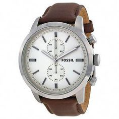 d652b99d0aa Fossil Townsman Chronograph White Dial Brown Leather Mens Watch FS4865   88.69  125.00 (8 Available)