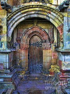 Doorway Edinburgh Scotland