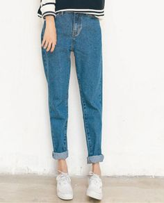 Stylish High-Waisted Loose-Fitting Women's Harem Jeans