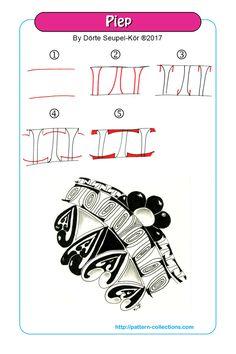 Piep pattern by Dörte Seupel-Kör    Zentangle