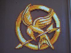 Hunger Games Mockingjay perler bead sprite by SushiMarioBros