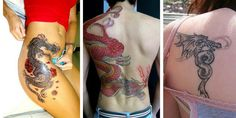 100 Alluring Dragon Tattoos And Meanings Collection] Small Dragon Tattoos, Dragon Tattoo For Women, Dragon Tattoo Designs, Tattoo Designs For Women, Small Tattoos, Tattoos For Women, Up Tattoos, Black Tattoos, Body Art Tattoos