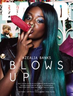 SEPTEMBER, 2012. Azealia Banks shot by Sharif Hamza; Styled by Karen Langley: http://www.dazeddigital.com/music/article/14211/1/dazed-confused-september-issue-azealia-banks-blows-up