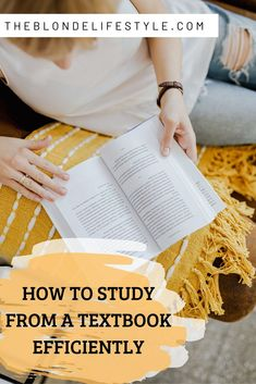 Textbook heavy classes can be overwhelming to read and study out of. Here are a few study methods to keep you study from a textbook efficiently. College Majors, College Hacks, College Fun, Education College, College Life, College Students, College Essentials, Online College, College Basketball