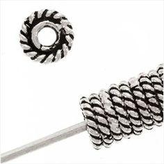 4mm Bali sterling slim rope edge spacer