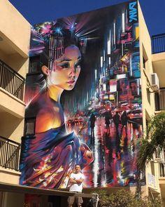 Ayia Napa, Cipro: nuovo muro dell'artista inglese Dan Kitchener aka DANK
