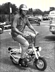 """... rarest and coolest photos of Muhammad Ali from 1971 on the """"motorcycle""""."""