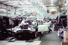 Christmas at the MG factory in Abingdon England.
