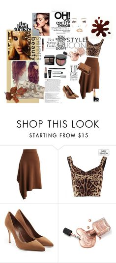 """""""Untitled #30"""" by gurleenkaur02 on Polyvore featuring Chicwish, Dolce&Gabbana, Sergio Rossi, Bobbi Brown Cosmetics, Balmain, H&M, Day & Mood and Chanel"""