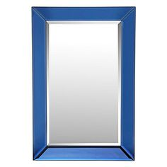 Prism Mirror by Z Gallerie Blue Framed Mirrors, Mirror Art, Stylish Home Decor, Affordable Home Decor, Dining Room Buffet Table, Living Room Accessories, Blue Rooms, Dream Home Design, Mirror With Lights