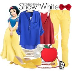 Snow White by leslieakay on Polyvore featuring polyvore, fashion, style, H&M, Balmain, Marc Fisher, Torrid, Anne Klein, Carolee and Accessorize