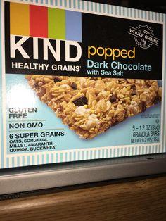 Kind healthy grains popped dark chocolate with sea salt granola bars