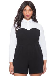 Plus Size Faux Bustier Romper ** Read more reviews of the product by visiting the link on the image.