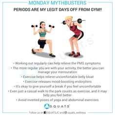 Do you feel like staying away from workouts during your periods? It's very likely you feel low on energy and knocked out during your periods.SQUATS Wellness Experts explain why you should stay active and not skip your gym during your periods. Do You Feel, How Are You Feeling, Bloated Belly, Stay Active, Explain Why, Squats, Workouts, Knowledge, Wellness