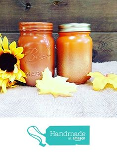 Set of 2 Rustic Fall Theme and Copper Gold Painted Mason Jars Centerpieces, Glass Flower Vase, Thanksgiving Table Decor, Boho Chic Home Decorations https://www.amazon.com/dp/B074MN8B8Y/ref=hnd_sw_r_pi_dp_YOrIzb07N50QV #handmadeatamazon
